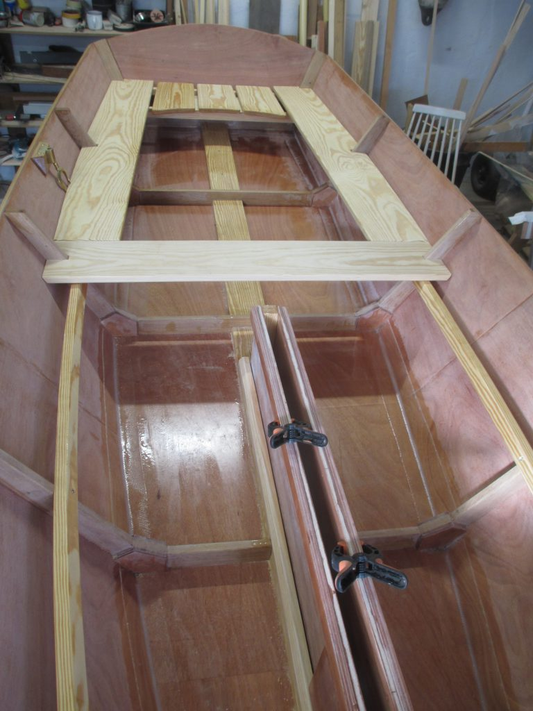 John Gardner 14 foot row and sail built